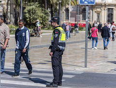 Local Policeman Keeping an Eye on Things (dcnelson1898) Tags: cartagena spain coast port cruise travel vacation hollandamericaline oosterdam mediterraneansea police lawenforcement firstresponder