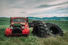 The Tire King (Pedalhead'71) Tags: landscape palouse washington whitmancounty wheat truck abandoned