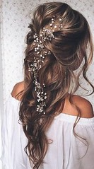 haf up half down wavy wedding hairstyle with hair accessories by marcia (nididchy) Tags: hairstyles for medium length hair short long school millennial viking beard l mens fashion style jewelry i tattoos sunglasses glasses sensod | diy home decor mehndi designs pallets health hairstylecom try haircuts