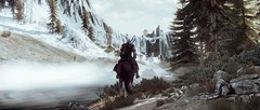 Schematic Hunting (U K I Y O) Tags: the witcher 3 wild hunt reshade game gaming screenshot screenarchery pc skellige tones moody adventure ride riding horse horseback