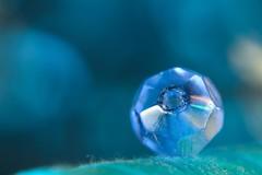 The Blues (haberlea) Tags: home macro blue theblues macromondays bead glass thread surface small decoration jewellery one 1 single