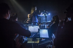 20180328_F0001: Inside the symphony orchestra (wfxue) Tags: concert venue light lighting smoky stage sound music instrument cello equipment symphonyorchestra orchestra conductor musicians notes people candid