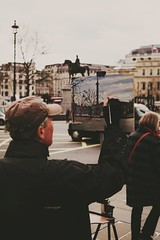 London Street Art (DaniellaSevern) Tags: london londonstreets art streetart painting streetpainting streetphotography lifestylephotography peoplephotography depthoffield bokeh sony sonya6000 sigma sigma30mm trafalgarsquare equestrianstatueofgeorgeiv statueofgeorgeiv georgeiv