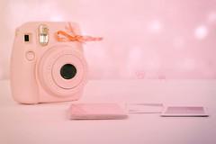 instax mini (Chocolatine photos) Tags: rose mini appareil photo photographesamateursdumonde pastel nikon makemesmile minimaliste flickr bokeh