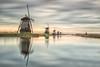Kinderdijk (Koen Adriaenssen) Tags: kinderdijk mill water nederland erfgoed long exposure sunrise sunset reflection nature landscape sigma 35mm 14 art canon 1d iv holland bw nd 110