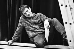Theatre Buddies # 23 Dieter (just.Luc) Tags: man male homme hombre uomo mann bn nb zw monochroom monotone monochrome bw belgië belgien belgique belgica belgium portret portrait ritratto retrato porträt face gezicht visage gesicht