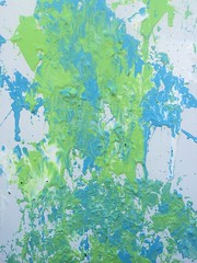 Egg Splatter Painting (Pictures by Ann) Tags: eggs egg acrylicpaint paint acrylic canvas green blue white decor decoration modern random abstract fun simple craft art creativeexpressionsophia4hproject project 4h painting