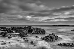 Reef Point - Moody Morning_B&W_6017 (www.karltonhuberphotography.com) Tags: 2016 bw beach blackandwhite californiacoast clouds drama horizon invigorating karltonhuber longexposure moody morninglight ocean offshorerocks pacificocean reefpoint seascape silkywater sky southerncalifornia water weather