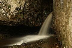 Great Douk Cave (Derbyshire Harrier) Tags: 2018 waterfall karst limestone yorkshire yorkshiredales ingleborough cave entrance april spring greatdoukcave longexposure geology fault