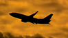 Baby Boeing Sunset (hobart_aviation) Tags: 737 737700 700 hobart silhoutte airport ymhb hba boeing takeoff tasmania sunset winglet clouds