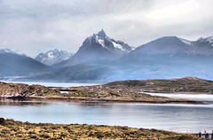 Mountain peak in Patagonia in Argentina (Jill Rowland) Tags: sea travel patagonia argentina chile southamerica tour tourist tourism outdoors hiking mountain wildlife penguins birds lake water reflection glacier scenery landscape nature naturalbeauty natural canon canonphotography canonaddicts canonphoto canonphotos meadow beaglechannel boat sealions lighthouse
