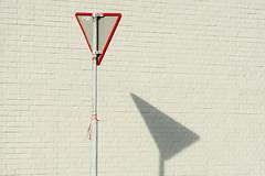 Red sign, white bricks and shadow (Jan van der Wolf) Tags: map163134v sign trafficsign roadsign verkeersbord bricks bakstenen wall muur red redrule rood shadow shadowplay white wit schaduw schaduwspel