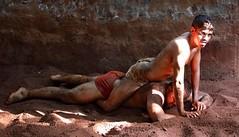 Kushti Wrestling (grab a shot) Tags: canon eos 5dmarkiv india maharashtra mumbai 2018 indoor akhara gym kushti wrestling wrestle wrestler sand male men sport