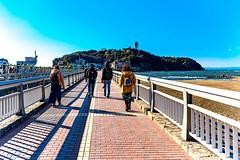 From Benten Bridge to Enoshima (Dakiny) Tags: 2018 winter january japan kanagawa fijisawa shonan coast enoshima iland landscape sky sea bearch d750 nikonclubit