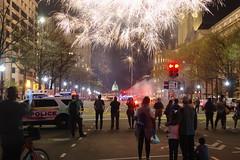 spectators (philliefan99) Tags: washingtondc districtofcolumbia downtown federaltriangle fireworks dcemancipationday capitalweather pyrotechnics spectators smoke silhouette uscapitol