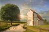 The river (Jean-Michel Priaux) Tags: paysage landscape nature river church abbey tree sun chapel chapelle chapell photoshop sunset light nikon d90 painting paint mattepainting