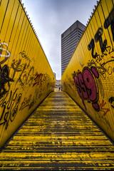 Luchtsingel Rotterdam (Jan Hoogendoorn) Tags: nederland netherlands rotterdam city stad brug bridge luchtsingel geel yellow