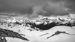 Beautiful British Columbia (RussellK2013) Tags: mountain mountains whistler whistlerblackcomb vista view travel snow clouds outdoor britishcolumbia canada scene scenery scenicsnotjustlandscapes scape landscape nikon nikkor ngc nationalgeographic d750 1635mmf4ged 1635mm 1635mmf4vr wideangle bw blackandwhite