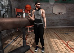 Training (Brendo Schneuta) Tags: basketball training poses pose dufaux gym gaeg beard fatpack cap reds soicey4eva sneakers shoes ks modulos hair tmd equal10 event events style fashion moda men mens game avatar second secondlife secondlifeblog blogger blog bloggersl free gift releases hoodie brendo keepcalm new clefdepeau