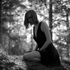Sasha [2] (belousovph) Tags: mediumformat analog film portra 120 zenzanon bronica girl portrait bokeh forest beauty nature neopan neopan100 fuji fujifilm blackandwhite bw