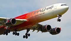LHR/EGLL: EtihadAirways Airbus A340-642 A6-EHJ (Roland C.) Tags: lhr egll etihad etihadairlines airbus a340 a340600 a340642 a6ehj london uk