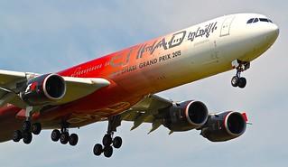 LHR/EGLL: EtihadAirways Airbus A340-642 A6-EHJ