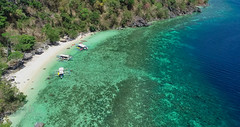Beach, Corals and the deep blue sea (Chrisdevillio) Tags: holidays landscape seaside fromabove cloudy turquiousewater exploration wave aerial philippines holiday sea bluesky sun birdview drone phantom4 dji islandhopping viewfromabove turquiouse coron nature green chbphotography beach dronepicture walk mimaropa philippinen ph