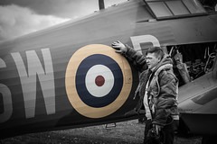 Hawker Hurricane P3717 (Steven Whitehead) Tags: ww2 hurricane hawker shuttleworth flying photographed photography blackandwhite canon canon5dmk4 aircraft airfield airfields airoplane fighter 2018 raf 100yearsraf celebration 100 years