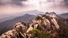 Dobongsan - Seoul, South Korea - Landscape photography (Giuseppe Milo (www.pixael.com)) Tags: photo hiking seoul contrast landscape dobongsan travel nature photography southkorea sky outdoor mountain korea geotagged clouds kr onsale national park