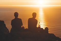 African Sunsets (Kym Ellis) Tags: capetown southafrica lionshead climb hiking wine couple sunset fire burning africa explore climbing mountain sea seascape fujifilm xpro2