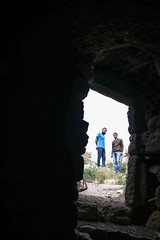 Ghaith and Khaled seen from the cave