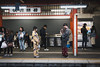 Kimono in Kyoto subway - Japan (Marconerix) Tags: japan kyoto subway metro underground people giappone kimono station waiting photo