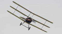 Sopwith Triplane (Bernie Condon) Tags: n6920 dixie sopwith triplane ww1 military rfc greatwar vintage preserved warplane aircraft plane aviation uk british shuttleworth collection oldwarden airfield airshow display flying