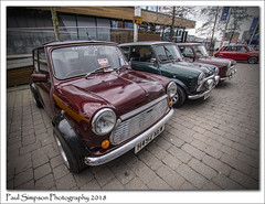 Bomber County Minis (Paul Simpson Photography) Tags: bombercountymini mini car cars transport transportation carshow lincolnbigminiday2018 lincoln lincolnshire sonya77 paulsimpsonphotography imagesof imageof photoof photosof classicmini smallcars british sigmalens wideangle distortion