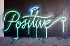 Positive (drew*in*chicago) Tags: chicago 2018 graffiti street art artist paint painter tag mural garage