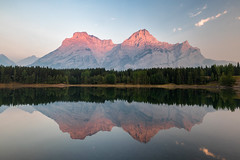 Wedge Pond (Andrew G Robertson) Tags: kananaskis country wedge pond alberta banff jasper canmore canada reflection lake sunrise