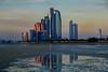 Etihad Towers at dusk (marrow62) Tags: abudhabi etihad sunset reflection uae