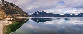 Lake Walchensee panoramic view