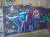 556 (en-ri) Tags: sham 12s bianco viola rosso arrow coito torino wall muro graffiti writing parco dora ragazza girl ragazzo boy mezzaluna nero