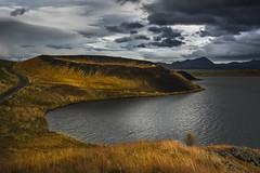 Visiting pseudo-crater (Sizun Eye) Tags: myvatn pseudocrater iceland landscape cloudscape crater volcanic lake sizuneye nikond750 tamron2470mmf28