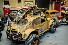 Adding some Firepower to the Apocolypse Tamiya Sand Scorcher (Strangely Different) Tags: rceveryday tinytrucks hobby rccar rc4wd tamiya axial sandscorcher baja bug vw volkswagen apocalyptic beetle dune buggy radiocontrollecar scalemodel scaler scalerc
