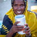 Portrait of a smiling somali woman in a market, Woqooyi Galbeed region, Hargeisa, Somaliland
