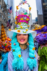 EasterParade2018(NYC)9 (bigbuddy1988) Tags: people portrait photography nikon city manhattan digital d610 new art nyc usa woman smile blue color colour festival parade easter flash strobe sb600 newyork easterparade