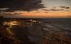 Before the Sun (OzzRod (on the road again)) Tags: pentax k1 smcpentaxm40mmf28 dawn cloud citylights swell waves beach newcastle