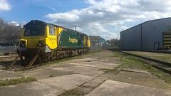 Buffering (_J @BRX) Tags: balmroad midlandroad leeds yorkshire england uk class70 spring april 2018 ge powerhaul freightliner train locomotive freight depot iphone 70017