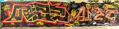 graffiti amsterdam (wojofoto) Tags: amsterdam graffiti streetart nederland netherland holland wojofoto wolfgangjosten hof halloffame flevopark amsterdamsebrug aize