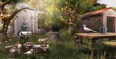 Her heart was a secret garden (Trixie Lanley) Tags: eleventhhour illuminate ariskea kustom9 raindale theepiphany gacha tlc birds animals secondlife gardendecor bloom pandesigns go