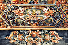 Bhutan: Buddhist Art at Paro Dzong I. (icarium82) Tags: bhutan travel canoneos5dmarkiv artwork parodzong buddhist captureone himalayas sigma100400mmf563dgoshsm detail sundaylights