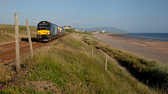 Evening Glory (Richie B.) Tags: seascale cumbria 6c52 drs direct rail services stadler vossloh caterpillar class 88 68 nuclear flask fna