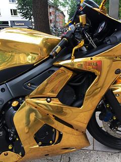 the golden motorbike